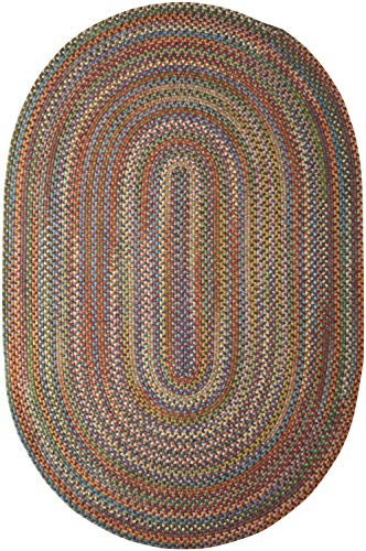 Colonial Mills Rustica Braided Rug, 7 by 9-Feet, Classic/Multicolor (Rugs Braided 7x9 Oval)