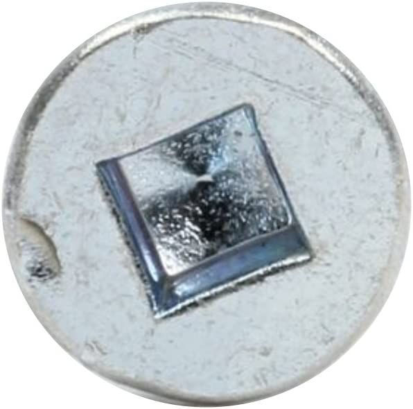 Rok Hardware 100 Pack #8 x 2-1//2 Coarse Thread Flat Square Head Wood Screws Zinc Type 17 MDF