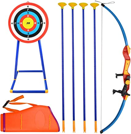 Amazon Com Ameyxgs Kids Toy Archery Bow And Arrow Set Indoor Outdoor Archery Play Set Children Toy Bow Archery Gift Set With Target And Stand For Archery Shooting Games Sports Outdoors Gives you a stand arrow from jojo's bizarre adventure, you are able to shoot it, also comes with a quiver category: amazon com