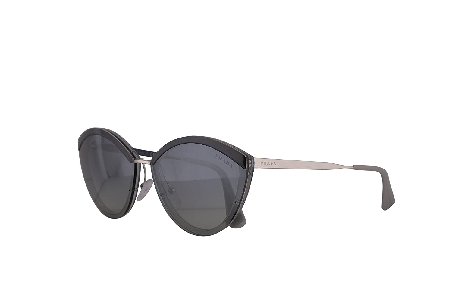 950147b2426 Amazon.com  Prada PR07US Sunglasses Grey w Grey Gradient Blue Mirror Silver  64mm Lens KI53A0 SPR07U PR 07US SPR 07U  Clothing