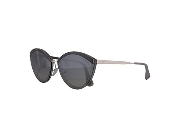 7f00bd0a995b Amazon.com: Prada PR07US Sunglasses Grey w/Grey Gradient Blue Mirror ...