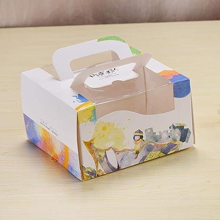 Cajas de regalo para cupcakes, 15 unidades, caja portátil para pasteles de niños, bandeja para pastel de queso, caja de embalaje para pan de postre, cajas de regalo, 16 * 16 * 9,5 cm: Amazon.es: Hogar