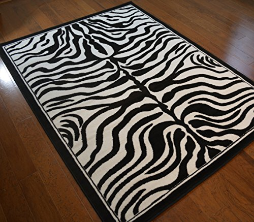 """Wholesale Rug Source Zebra Skin Area Rug 5'3"""" x 7'3"""" for sale  Delivered anywhere in USA"""