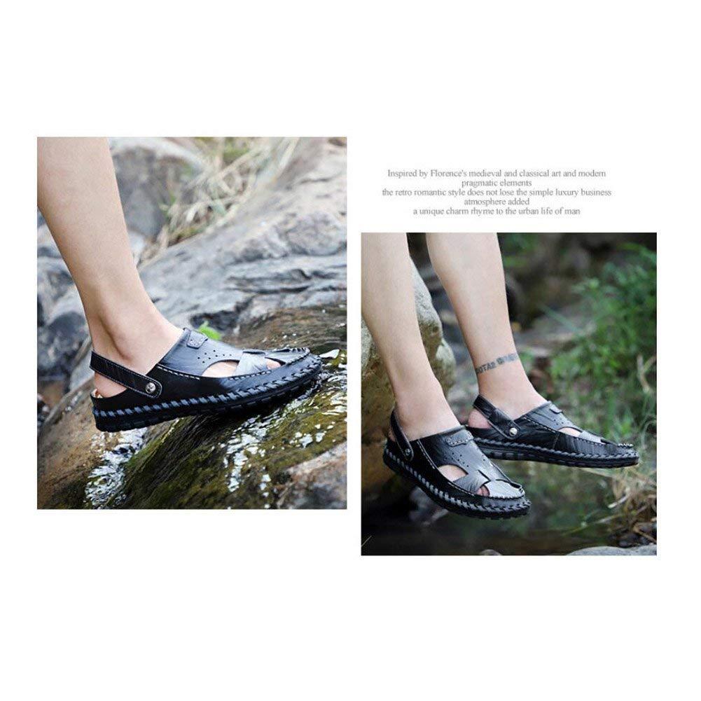 HhGold Sandalias de Cuero para para para Hombres Pescador Zapatos de Verano Transpirables y Deportivos Zapatillas Deportivas al Aire Libre para Caminar al Aire Libre Viaje a la Playa (Color: Uno, Tamaño: 44) d432f4