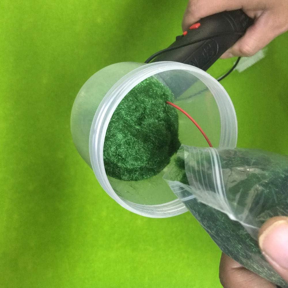 Moligh Poup/ée miniature D/écor Mod/èle Mat/ériel Flocage Statique Herbe Applicateur Mod/élisation Hobby Craft Accessoire