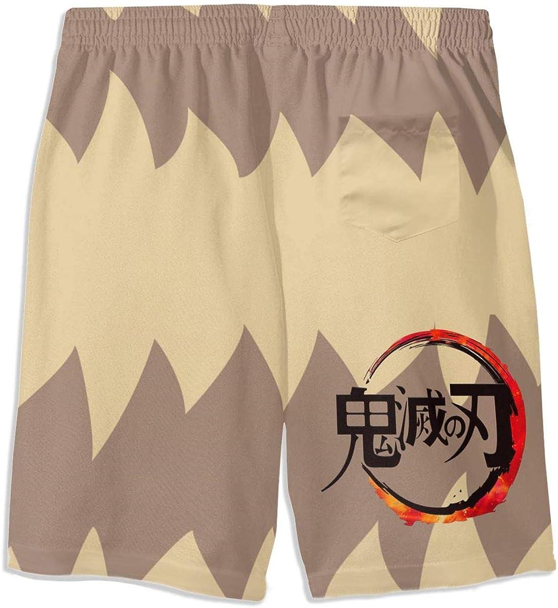 Muindancer Cartoon Characters Youth Boys 3D Print Shorts Summer Beach Shorts Casual Pants Quick Dry Swim Trunk