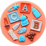 Longzang F0490 Baby Shower Fondant Silicone Sugar Craft Mold, Mini