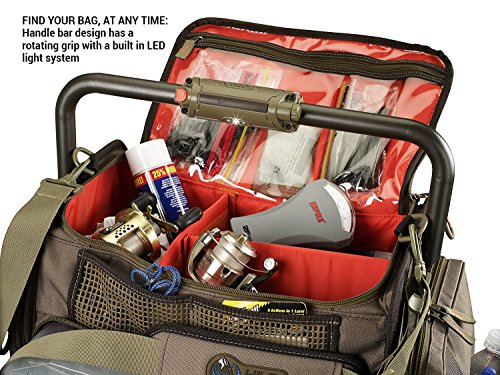 Wild River by CLC Custom Leathercraft WT3702 Tackle Tek Frontier Lighted Handle Bar Tackle Bag, Fishing Bag with Five PT3700 Trays by Custom Leathercraft (Image #3)