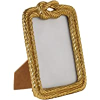 "Trend Setter – Metal Handicraft Table Top Gold Photo Frame Perfect for Family Office Decorations Birthday Gift (Size: 9""X 7"")"