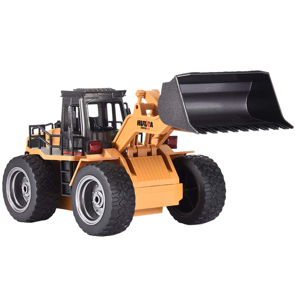 Rigel7 HuiNa Toys 1520 1/18 2.4G 6CH Remote Control Construction Toy RC Truck, Alloy Toys Bulldozer Truck Engineering Vehicle Car Gift for Boys Girls Kids Todders
