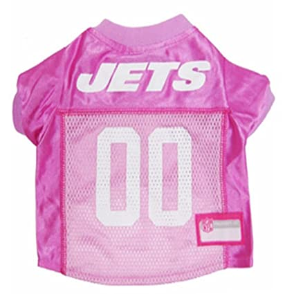 030728ac Amazon.com : New York Jets Dog Jersey Pink, X-Small. - Football Pet ...