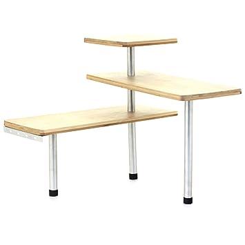 Design Etagère D Angle En Bambou Et Inox Cuisine Salle De Bain Ou Sur Un Bureau Idéal Pour Gagner De La Place
