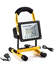 LED Flood Light LETOUR Outdoor Super Bright Work Light 30W 2400Lumens Waterproof Portable Security Lighting with Rechargeable Batteries*2