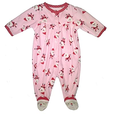 Baby Girls Santa Sleeper with Santa Footies - (Size - 3 Months)