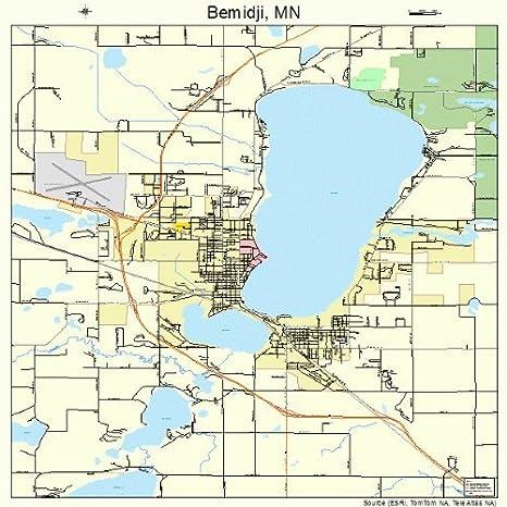 Bemidji Minnesota Map.Amazon Com Large Street Road Map Of Bemidji Minnesota Mn