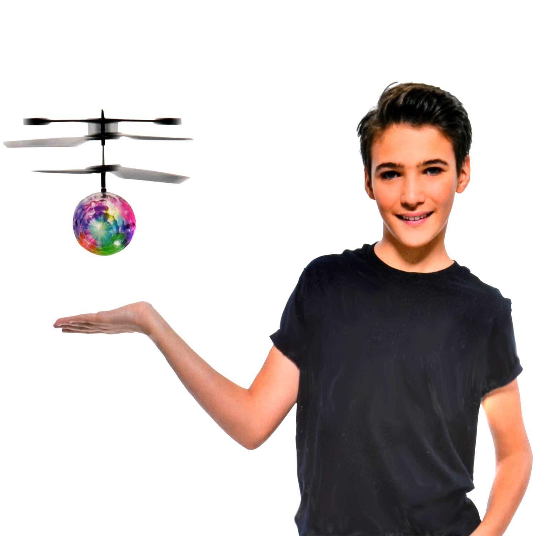 Fliegender Kugel Sensor RC Ball Disco Spielzeug Infrarot Drohnen Helicopter  KS
