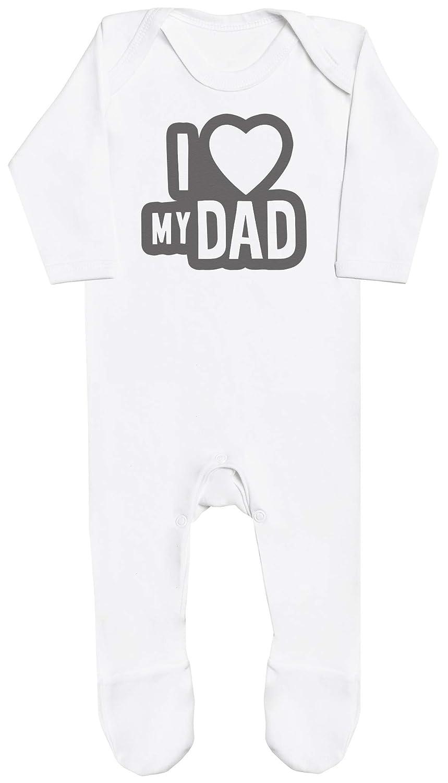 Zarlivia Clothing I Love My Dad Black Outline Baby Boy Romper Baby Girl Romper Baby Romper