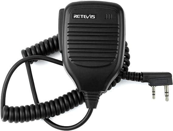 Retevis Universal 2Pin PTT Speaker Mic for H777 Baofeng 888 KENWOOD WOXUN TYT US