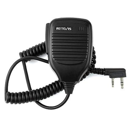 Retevis 2 Pin Speaker Mic For Baofeng Uv 5 R Retevis H 777 Rt21 Rt22 Rt27 Kenwood Tyt Hyt 2 Way Radio (1 Pack) by Retevis