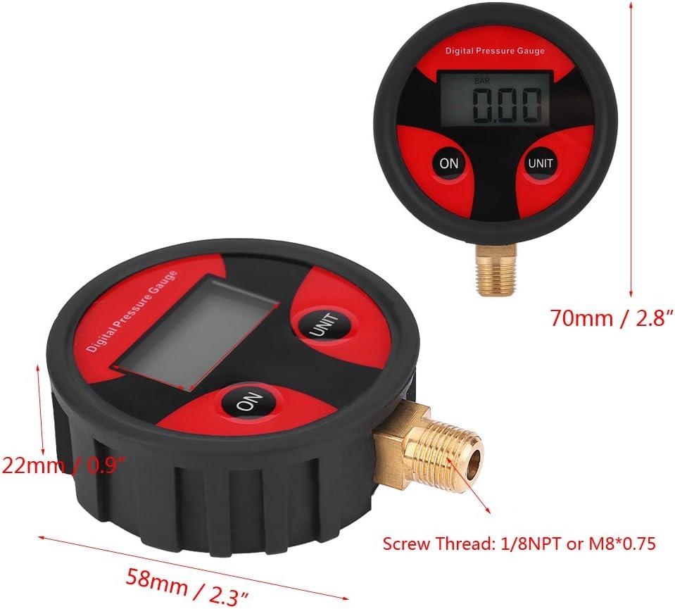 Keenso Auto Reifendruckmesser 0 100psi Lcd Digital Reifendruckmesser Luftdruckprüfer Reifenluftdruckmesser Für Auto Lkw Motorrad Auto