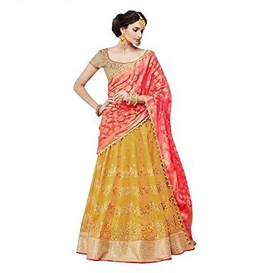 Amazon.com: INDIAN LEHENGA CHOLI SARI SAREE GOWN BRIDAL WEDDING ...
