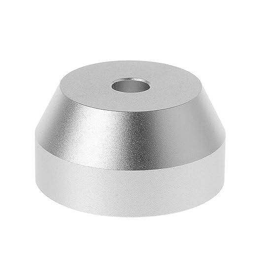 WEISHAZI - Adaptador universal de cúpula de vinilo, para tocadiscos de 7 pulgadas, 45 RPM, accesorios de aluminio plateado