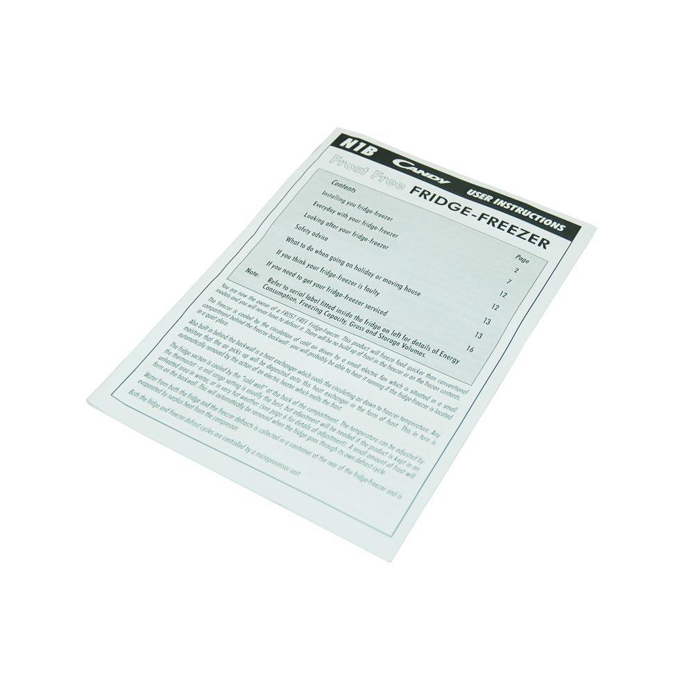 Libro de instrucciones para Candy Nevera Congelador equivalente a ...