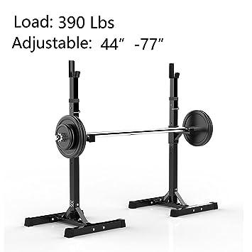 2pcs Barbell Rack, ajustable accesorio de estándar acero sólido banco de sentadillas pesas prensa libre mancuernas estante: Amazon.es: Deportes y aire libre
