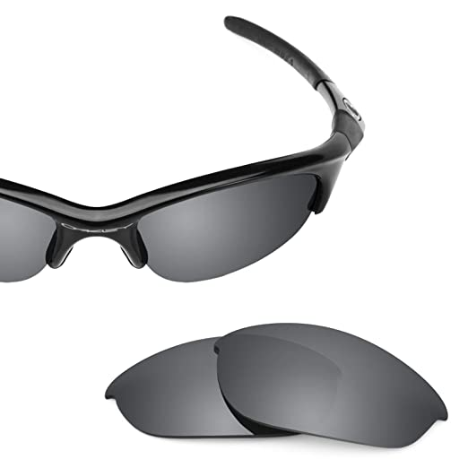 73be7f71a4 Revant Polarized Replacement Lenses for Oakley Half Jacket (Asian Fit)  Elite Black Chrome MirrorShield