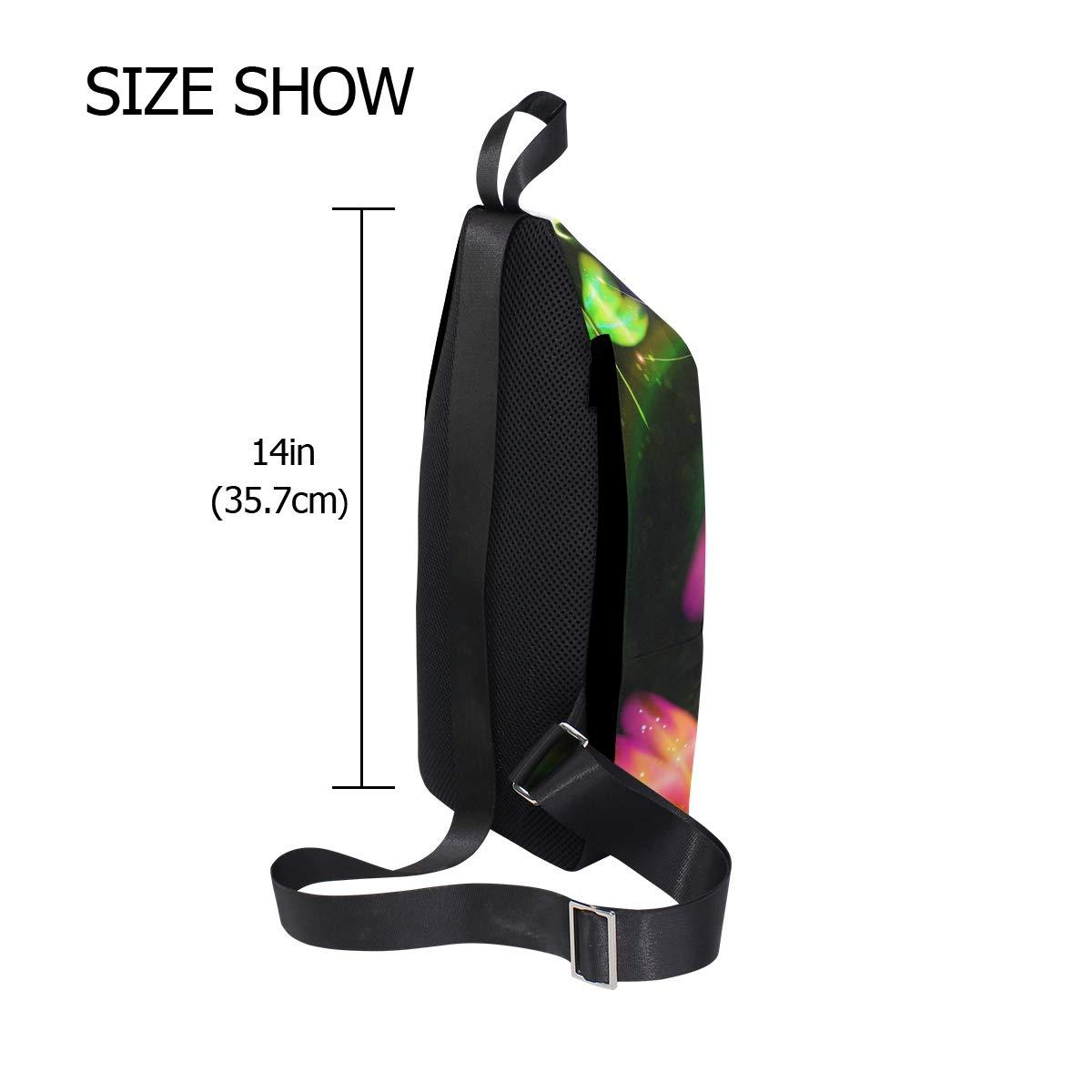 Unisex Messenger Bag Dragonfly Shoulder Chest Cross Body Backpack Bag