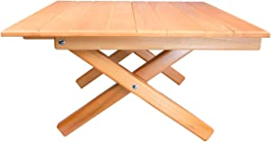 "Simple Setup Short Table All-Purpose Use and Portability - Beach, Picnic, Camp, Or Patio Table - All Wood Strong Table (Height 10"")"
