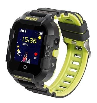 JBC GPS-Telefon Kinder Uhr Kleiner Weltentdecker Wasserdicht OHNE Abhörfunktion, SOS+Notruf+Telefonfunktion, Live GPS+LBS Pos