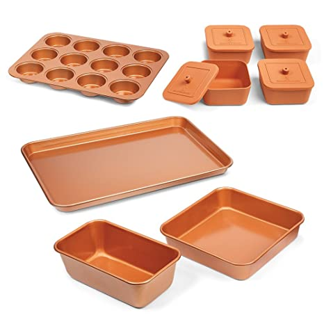 Amazon.com: Recipientes para horno Copper Chef, juego de 12 ...