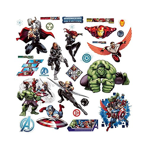 AVENGERS ASSEMBLE 28 Wall Decals Iron Man Hulk Thor Captain America Room Sticker