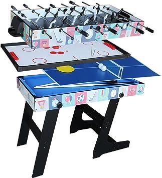 IFOYO - Mesa de juego 4 en 1, mesa de hockey, futbolín, billar y ping pong: Amazon.es: Juguetes y juegos