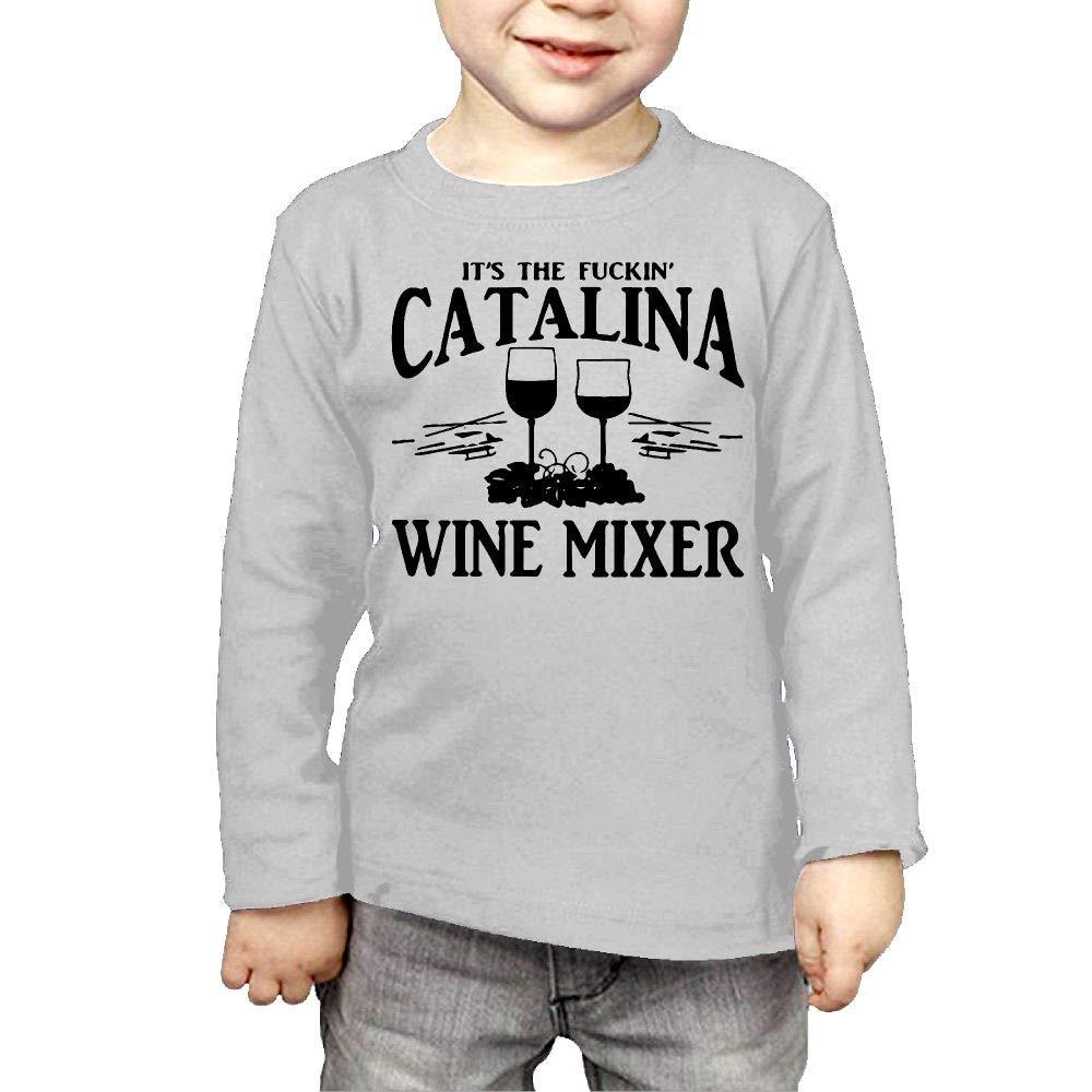 Baby Boys Kids Fuckin Catalina Wine Mixer Mesh Dancing Cap Printed Long Sleeve 100/% Cotton Infants Tee Shirt