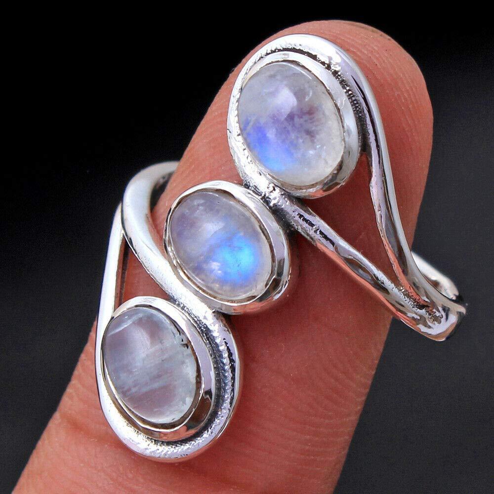 Moonstone jewelry White stone ring White sky gemstone Anniversary gift wife Mom birthday Daughter honeymoon gift New mom gift bridesmaid
