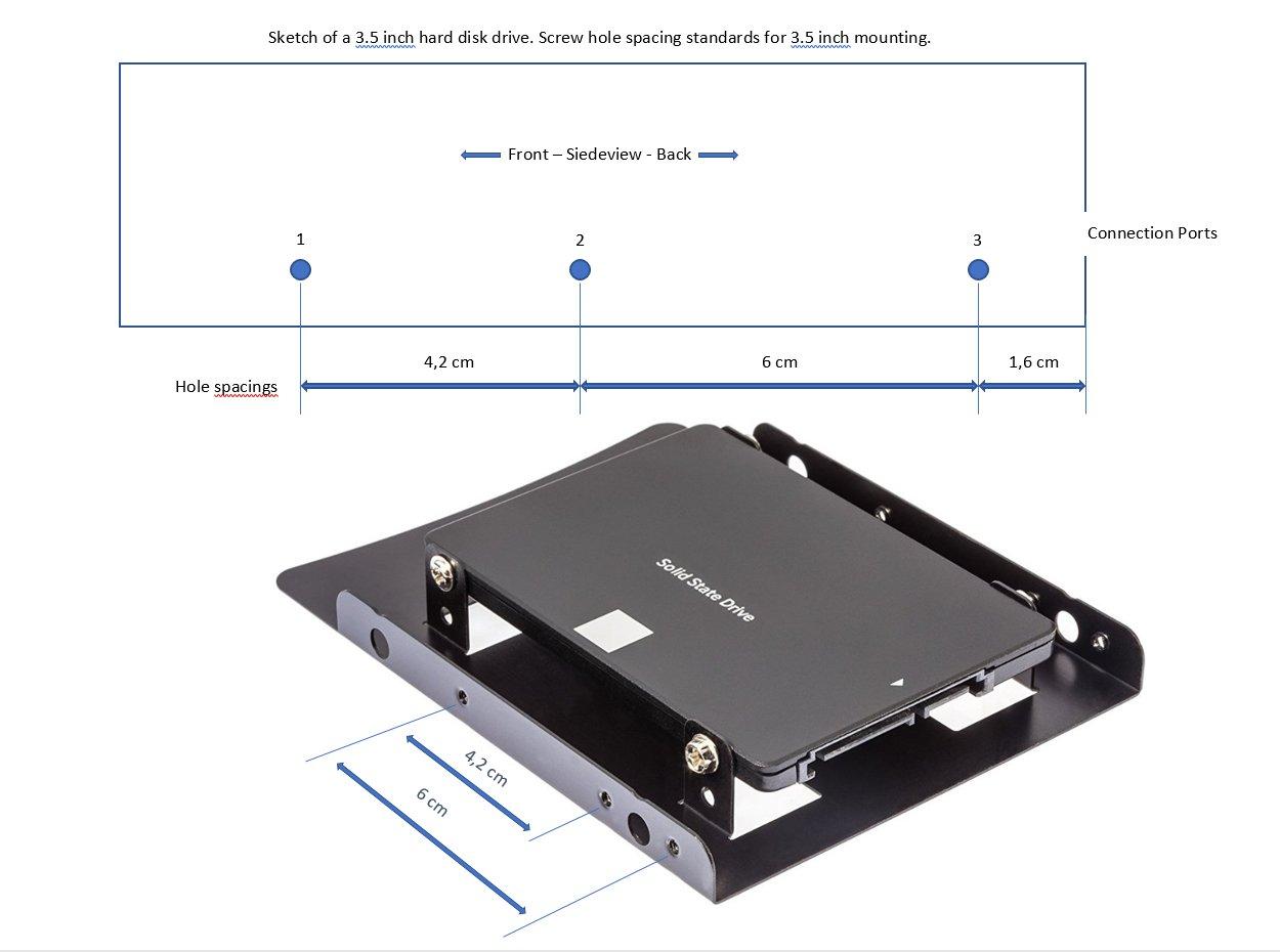 PoppStar 1004461 - Kit de montaje para SSD interno, 2.5 pulgadas ...