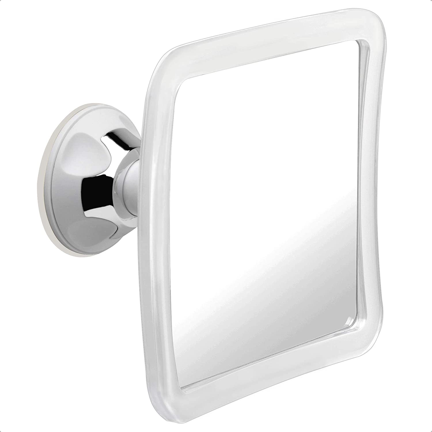 Mirrorvana Fogless Shower Mirror For Shaving With Upgraded Suction Anti Fog Shatterproof Surface And 360 Swivel 16cm X 16cm Amazon Co Uk Kitchen Home