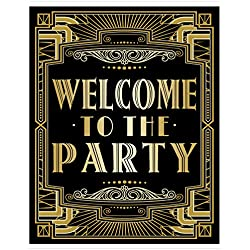 "Musykrafties Roaring 20s Gatsby Welcome to Party Poster Photo Booth Props Sign 16x12"" A3"
