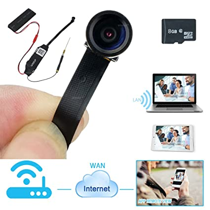 WISEUP 8GB Mini 1080P HD WiFi Cámara Espía Movimiento Activado Grabadora de Video Soporte iPhone Android