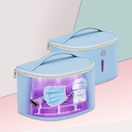 Beauty Tool 99.99/% Cleaned in 3 minutes. Hope C+ UVC box sterilizer with 24 UVC LEDs Large Size Light Box for Phone Blue Sanitizing box Portable Bag UVC light cleaner UV Sterilizer