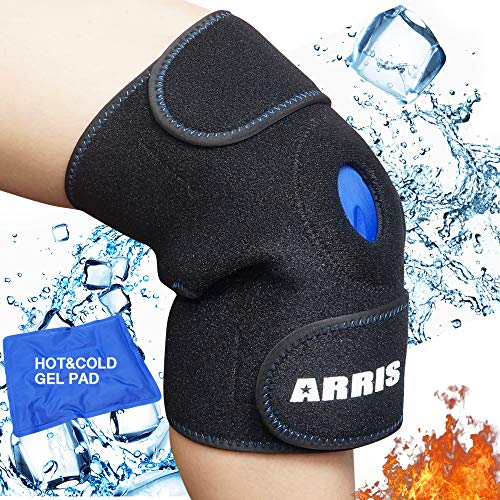 Ice Pack for Knee,Reusable Ice Gel Knee Brace Hot Cold Therapy for Knee Injuries Joint Pain Bursitis Arthritis Knee Pain Relief, Meniscus Tear,Sprains&Swelling,Flexible and Adjustable Ice Compression