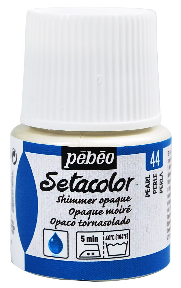 Pebeo Setacolor, colore opaco per stoffa, 45  ml, colore: perla brillante 45 ml 295-044