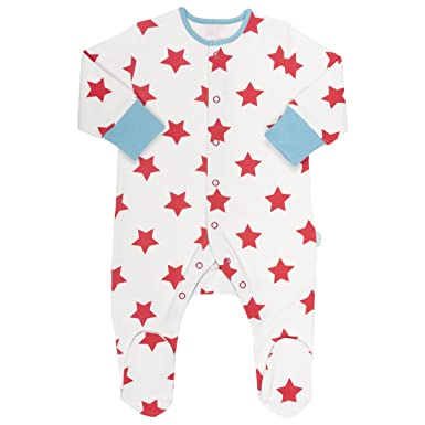 e67df2975 Kite Kids Star Print Sleepsuit in Ecru Red 2-3 Years  Amazon.co.uk ...