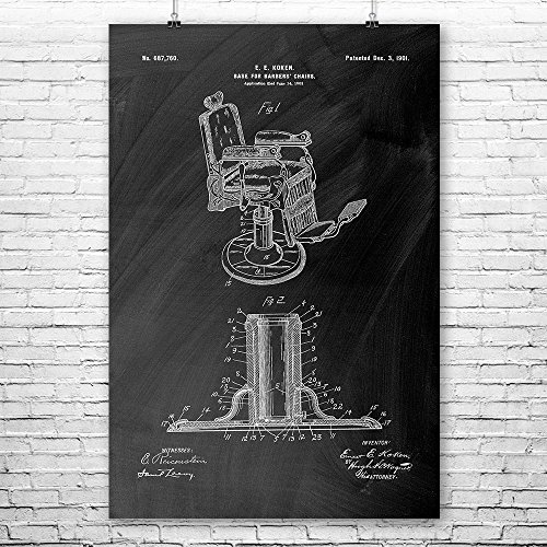Barber Chair Poster Print Barber Shop Gift Hair Stylist Cosmetology Student