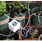 Automatic Drip Irrigation Kit, Self Watering System with Timer and USB Charging for Deck, Patio, Garden, Vegetable Gardens or Potted Plants, DIY 30-Day Programmable Water Timer for 8 pots flowers