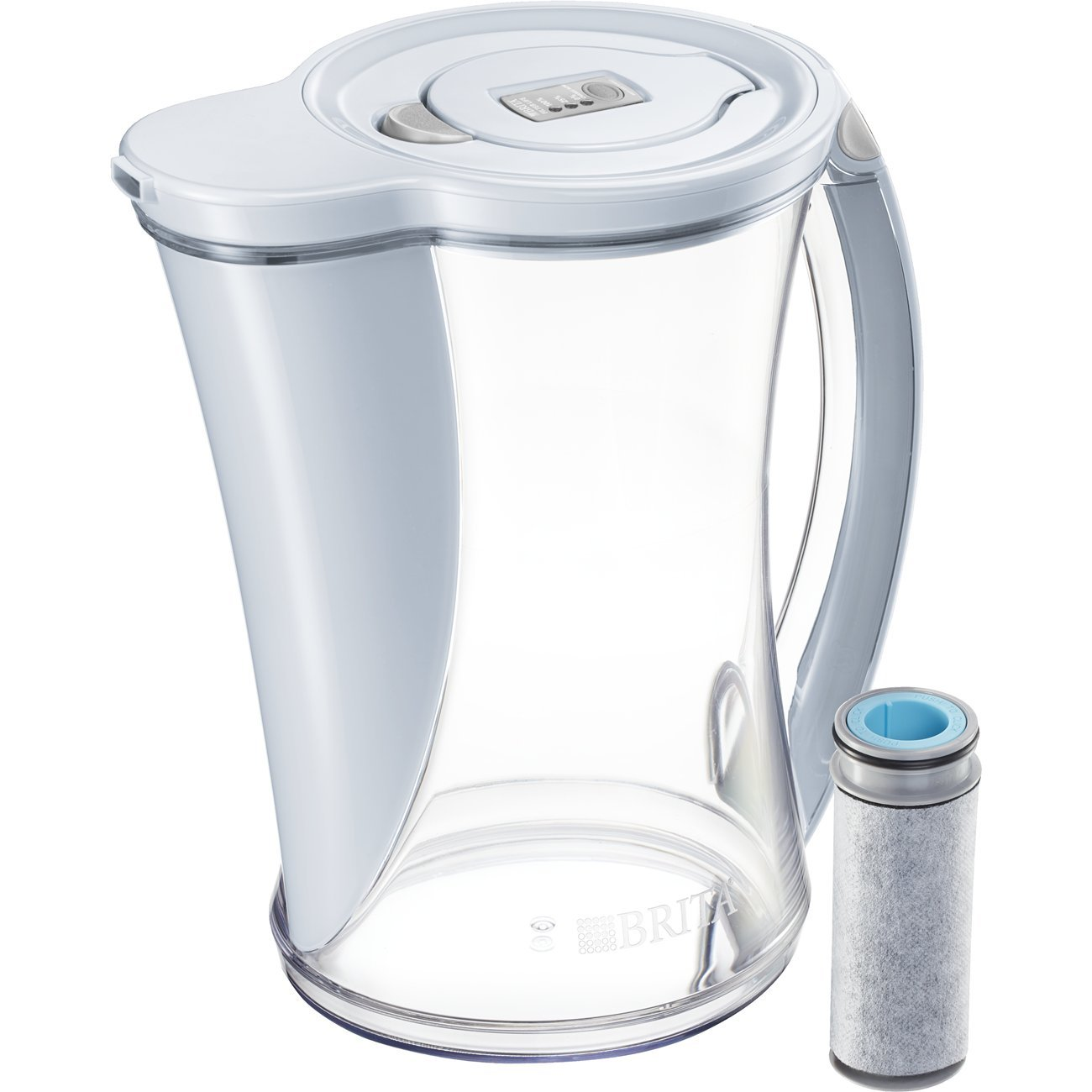 Brita 10060258362388 Large Stream Filter As You Pour Water Pitcher with 1 Filter, Carbon