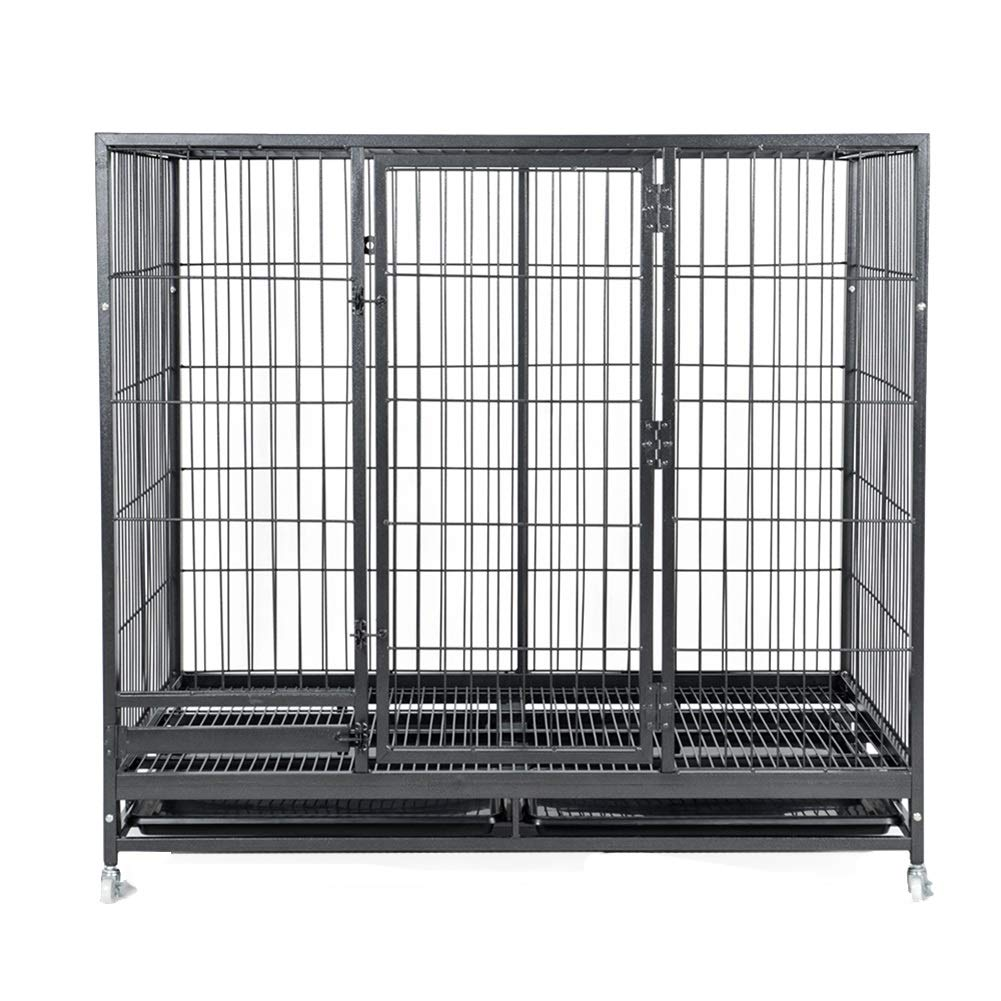 L -93 12555cmPet Playpens Animal Fence Cage, Single Door Folding Metal Dog, Portable Pet Supplements