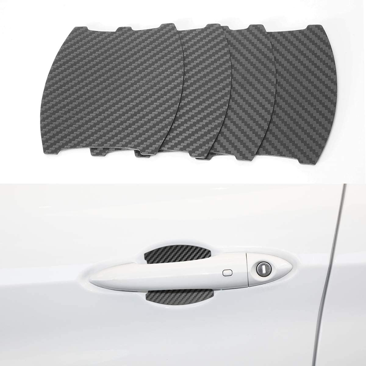 Door Handle Cup Scratch Protector Cover Guards Film Trim Magnetic Door Cup Paint Anti - Scratch Cover Accessories Fit for Alfa Romeo Stelvio (4 Pcs)
